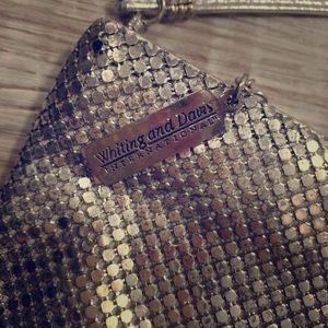 Handbags - Whiting and Davis vintage 1920's mesh handbag